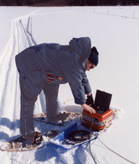 Protem receiver employed during winter survey